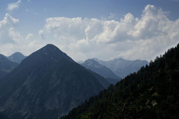 Blick von der Astenau auf die Berge rund um Pertisau