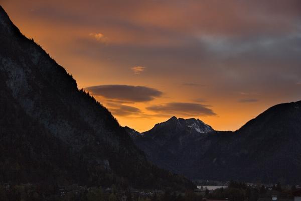 Sonnenuntergang über Pertisau